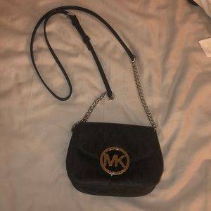 Michael Kors Black / silver hardware cross body